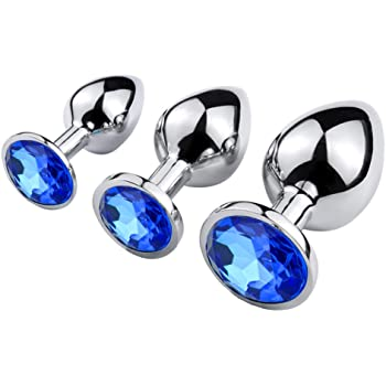 Stainless Steel Anal Plugs with Jewel | Sexpressions