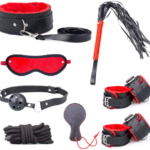 Advanced Fur and Faux Leather Role Play Kit - Red & Black