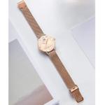 Womens Ultra Thin Waterproof Quartz Wrist Watch Rose Gold/Peach