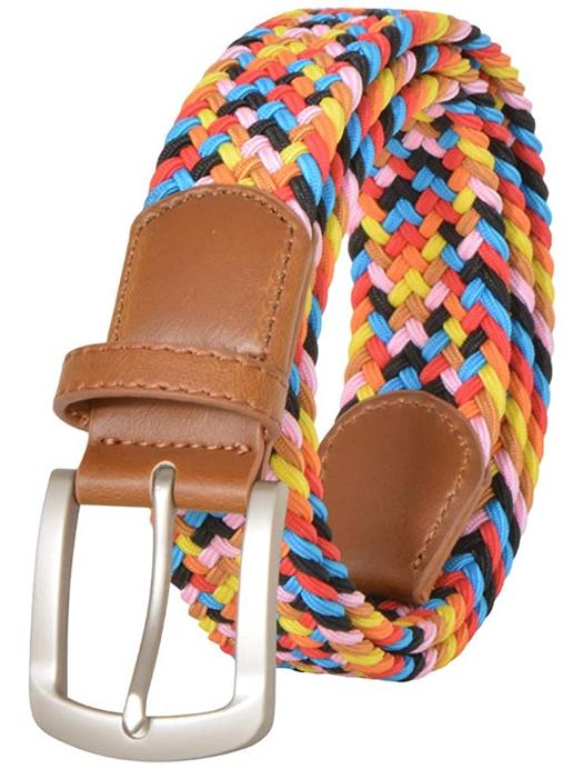 Screenshot_2021-02-12 Braided Elastic Belt, No Holes Leather Inlay Multi-Color Options unisex- Stretch Belt Metal Buckle (L[…](2)