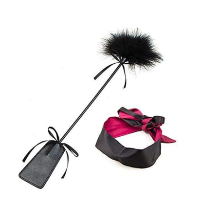 Feather Tickler and Leather Slapper - Black